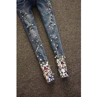 Отзыв на Джинсы AliExpress  New fashion 2014 hole decoration slim skinny jeans