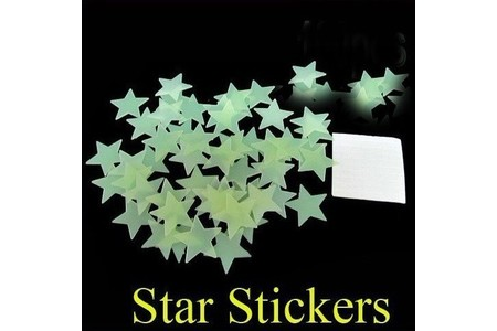 Main free shipping 100x home wall glow in the dark star stickers decal baby kids gift nursery