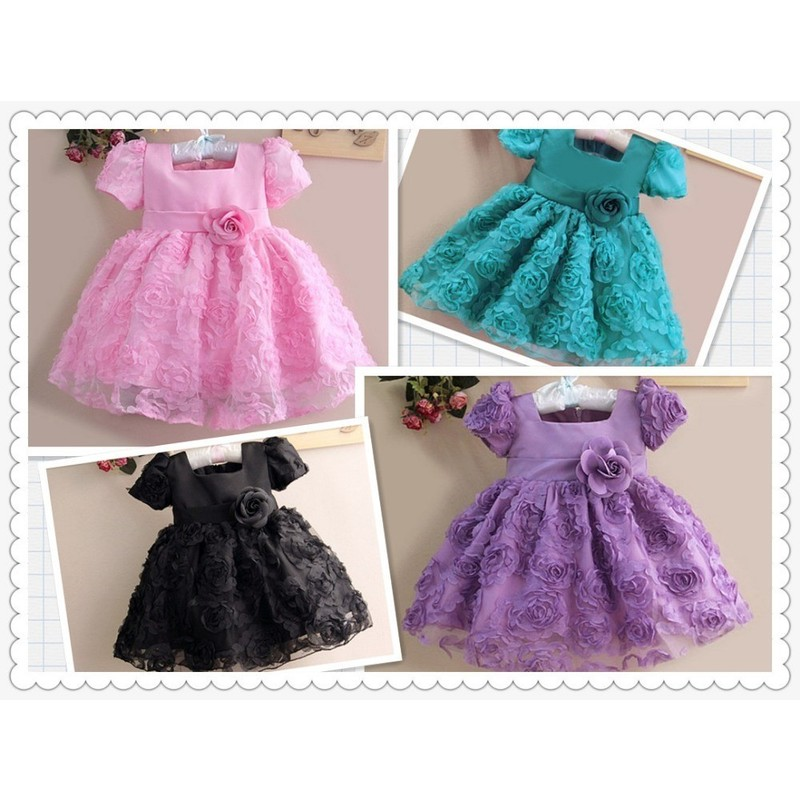 Отзыв на Платье AliExpress Hot explosion models real shot! Flower girl dress baby princess dress