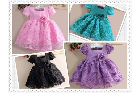 Main hot explosion models real shot flower girl dress baby princess dress 1pcs sale assured to buy